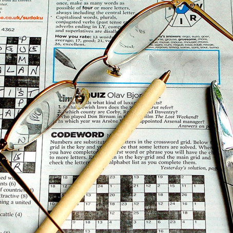 My Basic Tools image of crossword by Kate Ferris